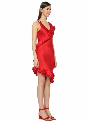 Maggie Marlyn Kokteyl Elbise Kırmızı